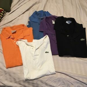 Lacoste Men's Polo Tees- (Set of 5-) size 4